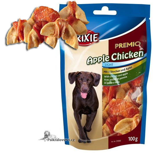 Premio APPLE CHICKEN Light - kuřecí maso se suš.jablky 100g