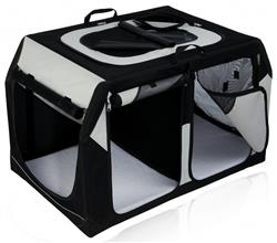 Box do auta transportní nylon pro psy Vario DOUBLE 91x60x61/57cm