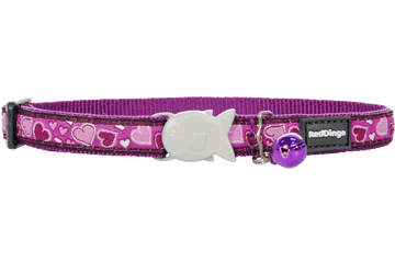 Obojek pro kočku RED DINGO 20-32cm/12mm Breezy Love Purple