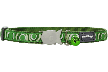 Obojek pro kočku RED DINGO 20-32cm/12mm Circadelic Green