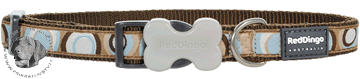 Obojek Red Dingo 50-80cm/40mm - vzor : Circadelic Brown