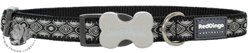 Obojek Red Dingo 50-80cm/40mm - vzor : Snake Eyes Black