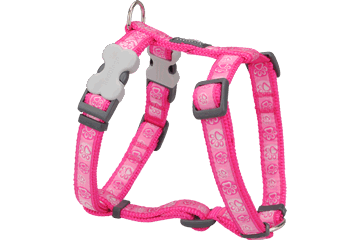 Postroj pro psa XL Red Dingo 25mm/71-113cm Paw Impressions Hot Pink