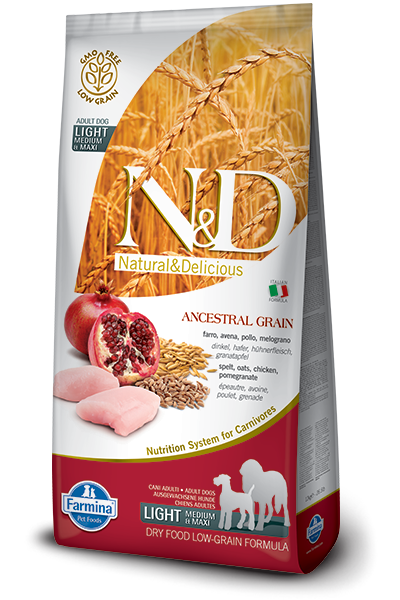 N&D Low Grain DOG Light M/L Chicken & Pomegranate 12kg + dárek + doprava zdarma