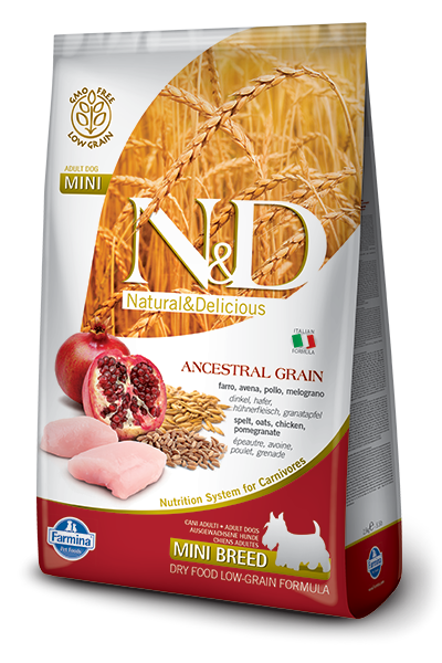 N&D Low Grain DOG Adult Mini Chicken & Pomegranate 7kg + dárek