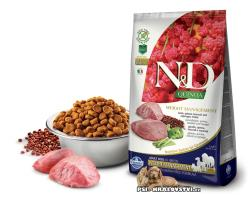 N&D GF Quinoa DOG Weight Mngmnt Lamb & Broccoli 2,5kg