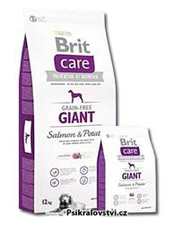 Brit Care Dog Grain-free Giant Salmon & Potato 12kg + 3kg ZDARMA do vyprodání