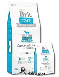 Brit Care Dog Grain-free Junior Large Breed Salmon & Potato 12kg