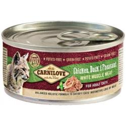 Carnilove White konz Mus Meat Duck&Pheasant Cats 100g