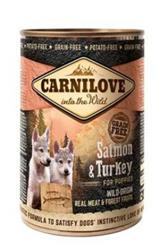 Carnilove konzerva Wild Meat Salmon & Turkey for Puppies 400g