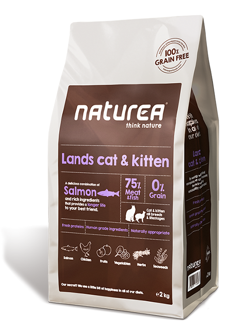 Naturea Grain Free Cat Lands - all breeds all lifestages 7kg