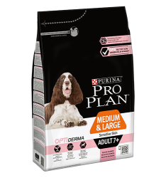 Pro Plan Dog Adult 7+ Medium&Large Sensitive Skin OPTIDERMA 3kg