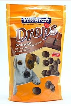 Vitakraft Dog pochoutka Drops Choco 200g