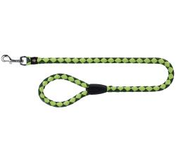 Vodítko pro psa kulaté do ruky DOUBLE nylon L-XL 1m/18 mm GREEN APPLE